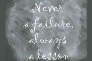 L'apprentissage par l'échec